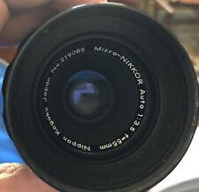 MICRO-NIKKOR AUTO 1:3.5 f=55mm NIPPON KOGAKU No. 219085 Lens, NICE!