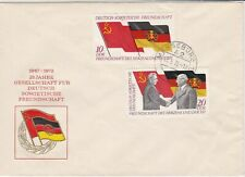 German DDR 1972 25 Years German Soviet Friendship Flags Stamps Cover Ref 30161