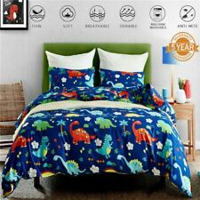 Dinosaur Quilt Duvet Doona Cover Set Single/Double/Queen/King Size Bedding Linen