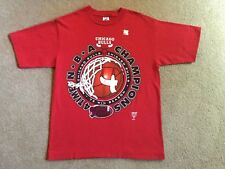 Vintage Chicago Bulls Red 1996 4-Time NBA Champions T-Shirt Youth XL Mint!