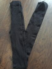 H&M Girls Fuzzy Black Tights - Size Large - Nice!!