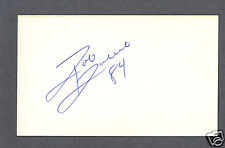 Rob Rubick signed football index card