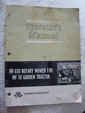 MASSEY FERGUSON MF-610,MF10 LAWN MOWER OPERATORS MANUAL