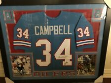 Earl Campbell Houston Oilers  35x43 Framed Autographed Signed Jersey Photos 8x10