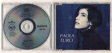 Cd PAOLA TURCI Mantre piove - La casa sul mare PROMO BMG 1993 Cds single singolo