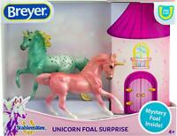 Breyer Stablemates Mystery Unicorn Foal Surprise Toy Set Mystery Foal inside 4+