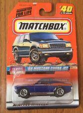 1/64 Matchbox 1998 #40   68 Ford Mustang 428 Cobra Jet in Blue /Orange to White