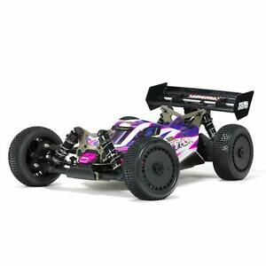 ARRMA 1/8 TLR Tuned TYPHON 4 Wheel Drive Roller Buggy Pink/Purple