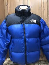 The NORTH FACE Blue Black 700 Down Puffer Jacket Men's Medium