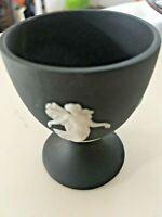 1-Wedgwood Jasperware Vintage Black Egg Cup Dancing Hours NICE! 1 left!