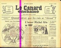 Le CANARD ENCHAINE numero 2150 du 3 janvier 1962