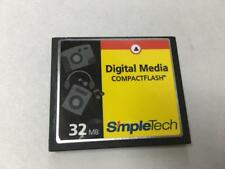 NEW PULL NO CASE SIMPLETECH 32MB DIGITAL MEDIA COMPACTFLASH CF CARD