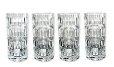 RALPH LAUREN SET OF 4 ETTRICK CLEAR CRYSTAL HIGHBALL GLASS-GERMANY-11.6OZ-BOX