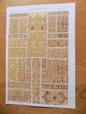 Original Book Print Grammar of Ornament Owen Jones 13x9 Inch Elizabethan 2