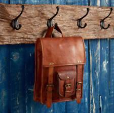 """11"""" Men's Messenger Shoulder Laptop Bag Briefcase Real Vintage Brown Leather"""