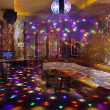 3W E27 RGB Crystal Ball Dual-head Rotating LED Stage Light Bulb Disco Party Lamp