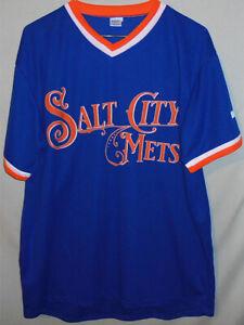 -Syracuse Mets- NY Mets Minor League Baseball Throwback Jersey - Salt City Mets