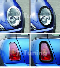 MINI Cooper MK1 02-06 R50 R52 Headlight+Taillight Surround Rim-Gloss Black