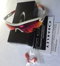 OAKLEY RADAR PITCH POLISHED WHITE RED IRIDIUM LENS SUNGLASSES 9052-0835 RRP £180
