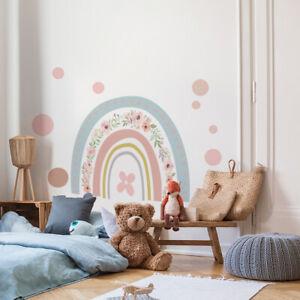 Kids Rainbow Wall Stickers Room Self Adhesive Wallpaper Sticker Art Murals Decor