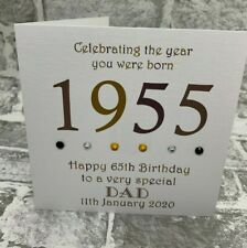 """65th 1955 Year You Were Born Birthday Card Personalised 6"""" Dad Uncle Husband Son"""
