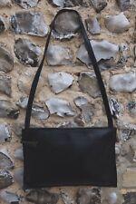 Womens Jane Shilton Shoulder Bag Black Leather Handbag Side Medium Zip Up