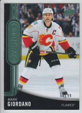 2014-15 UD OVERTIME MARK GIORDANO GREEN 58/99 PARALLEL #128 Upper Deck Flames