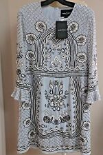 Needle & And Thread Beaded Embellished Georgette Fit Flare Dress 8 Powder Blue