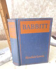 BABBITT,1922,Sinclair Lewis,1st Edition
