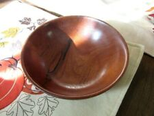 2014 Signed V. Hallmark hand crafted wood bowl. Mesquite