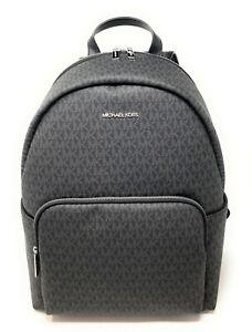 Michael Kors Erin Large Signature PVC Leather Shoulder Backpack Bag