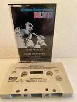 ELVIS PRESLEY C'MON EVERYBODY MUSIC CASSETTE TAPE 1985 RCA RECORDS