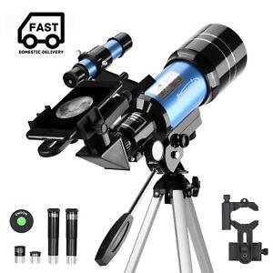 Astronomy Refractor Telescope 300mm W/ Smartphone Adapter 150X for Moon Watching