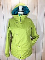 Burton Juniors Girls Large Green Snow Board Ski Coat Insulated Waterproof