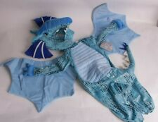 NWT Pottery Barn Kids Blue Dragon costume 3t Halloween