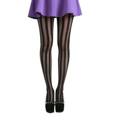 Women Lady Girl Punk Rock Stylish Vertical Stripe Pantyhose Stockings Tights