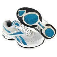 Reebok Women's SZ 8 Easytone Reeinspire Lux Athletic Shoe White Blue Sneakers