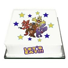 """FIVE NIGHTS AT FREDDYS  CAKE TOPPER SET  EDIBLE FOR 7.5"""" CAKE"""