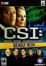 Brand New. CSI: Crime Scene Investigation - Deadly Intent (PC, 2009) Ships N 24h