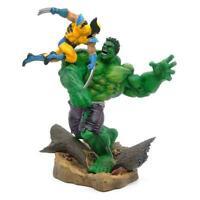 """Marvel Hulk vs Wolverine 14"""" Statue Figure Marvel Comics  17"""
