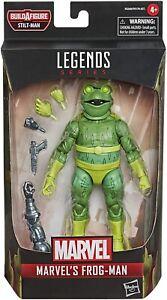 """Marvel Legends 6"""" Frog Man New Sealed Stilt Man BAF Spider-Man Villain"""