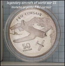 aereo Guerra Mondiale WWII F4U CORSAIR moneta in argento da collezione di monete