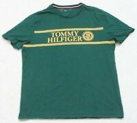 Tommy Hilfiger Green & Yellow Cotton Crewneck Tee T-Shirt Top Short Sleeve Large