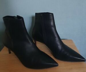 TOPSHOP Black Magic Pointed Toe Ankle Boots UK 7 EU 40 RRP £75