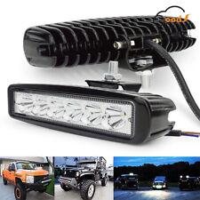 """6"""" 18W Car 12V 24V LED Work Spot Lights Bar Spotlight Lamp Offroad ATV SUV Truck"""