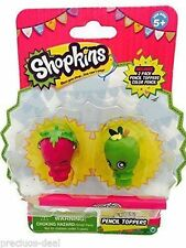 Shopkins matita decorazioni per Party Bag Filler Lucky Dip Premi Confezione da 2 con matita