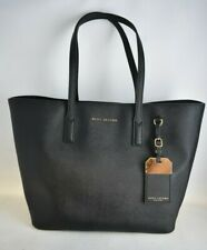 MARC JACOBS Black Saffiano Leather Tote Tags Neverfull Style Handbag