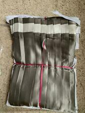 $1150! NEW Ann Gish Monaco Knife Pleat 100% Silk QUEEN Bedskirt - Metal / Ivory
