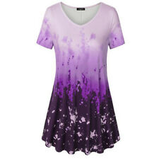 Womens Plus Size Casual Tunic Tops Ladies Short Sleeve Summer T-Shirt Tee Blouse