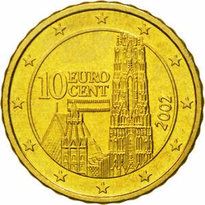 [#581271] Autriche, 10 Euro Cent, 2002, FDC, Laiton, KM:3085